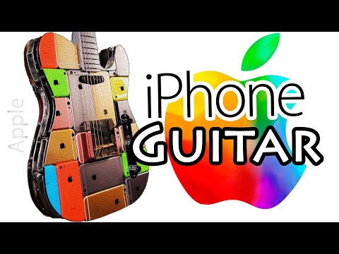 ГИТАРА ИЗ 107 iPhone!!!! iCaster / I Built a Guitar Out of 107 iPhones!