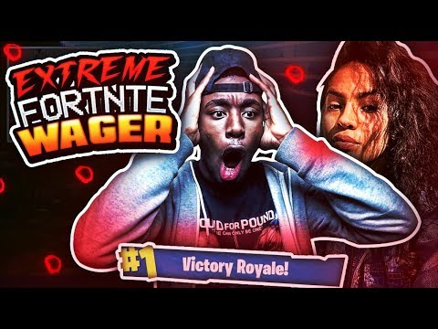 IF I WIN, SHE'LL LET ME SMASH! 😱 MOST INTENSE FORTNITE WAGER OF ALL TIME!