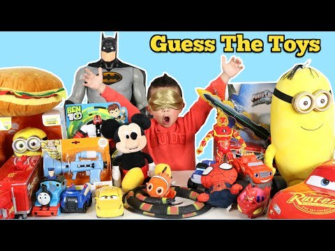 Thumbnail: GUESS THE TOY Challenge!! Disney Cars Paw Patrol PJ Masks Spider-Man Ben 10 Ckn Toys