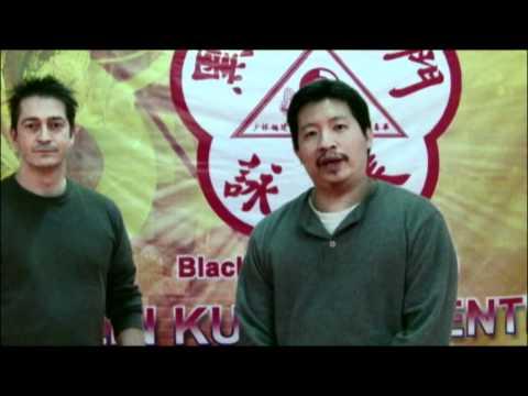 Sifu Paul Hawkes with Master Lin at the HKB Eng Chun Pai in Fredericksburg, VA