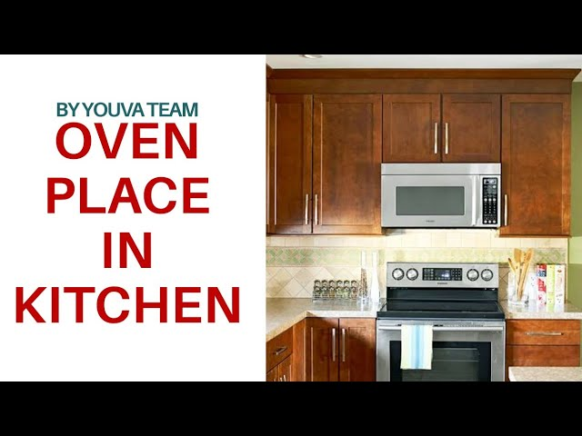 microwave oven position in kitchen with
