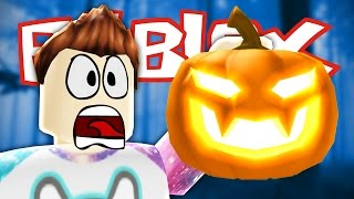 Roblox - Trick or Treat in Hallowsville - EVIL MURDERER PUMPKINS!!