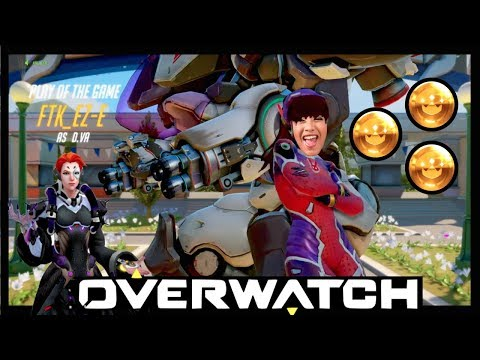 My Sister Carrying the Team in Blizzard World! (Overwatch)