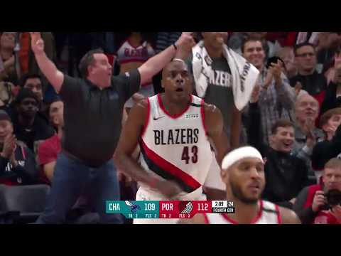 Anthony Tolliver scores 16 points in the fourth quarter vs. Charlotte   January 13, 2020