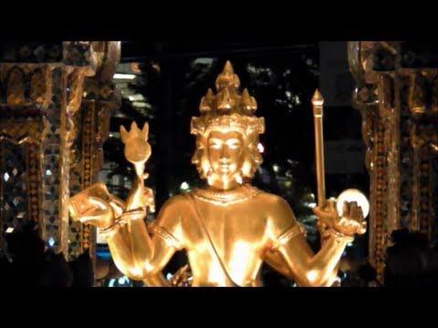 Erawan Shrine. Bangkok. Thailand. Night and Day