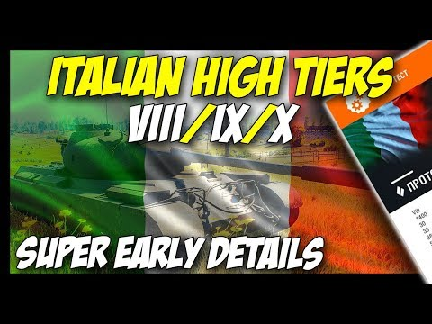 ► ITALIAN Top Mediums First Details + No Defender For EU! - World of Tanks 2018 Update News