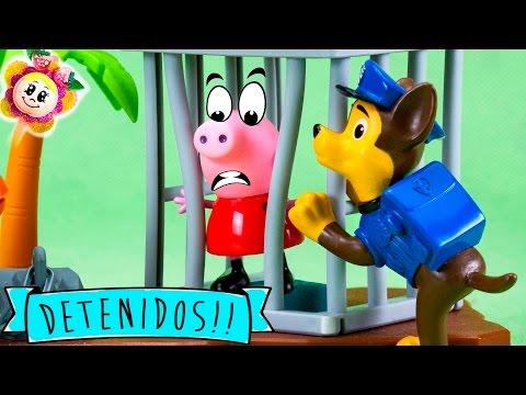 PEPPA PIG A LA CARCEL! PATRULLA CANINA AL RESCATE! Marshal detenido !