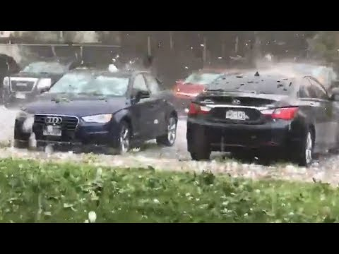 Severe hail storm hits Colorado Spring and Fountain - August 6, 2018