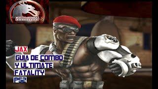Mortal Kombat Armageddon Guia Jax Combo Ultimate Fatality