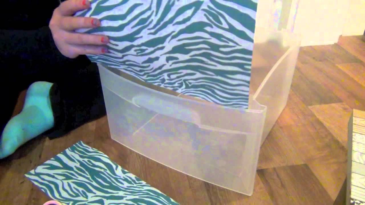 Diy Decorating Plastic Bins Youtube