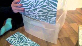 Diy: Decorating Plastic Bins