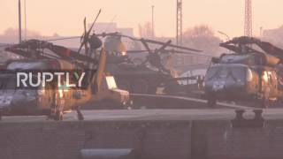 Germany  US military helicopters unloaded in Bremerhaven for NATO deployment