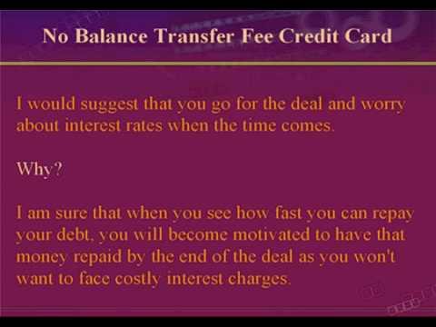 No Balance Transfer Fee Credit Card