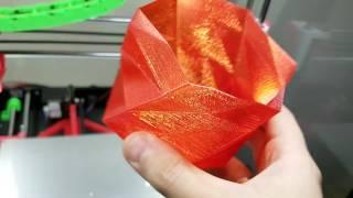 anet a8 r real petg semi transparent red filament