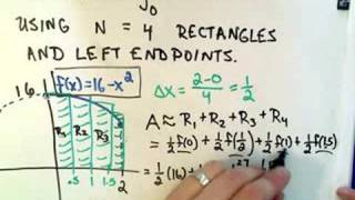 Approximating a Definite Integral Using Rectangles