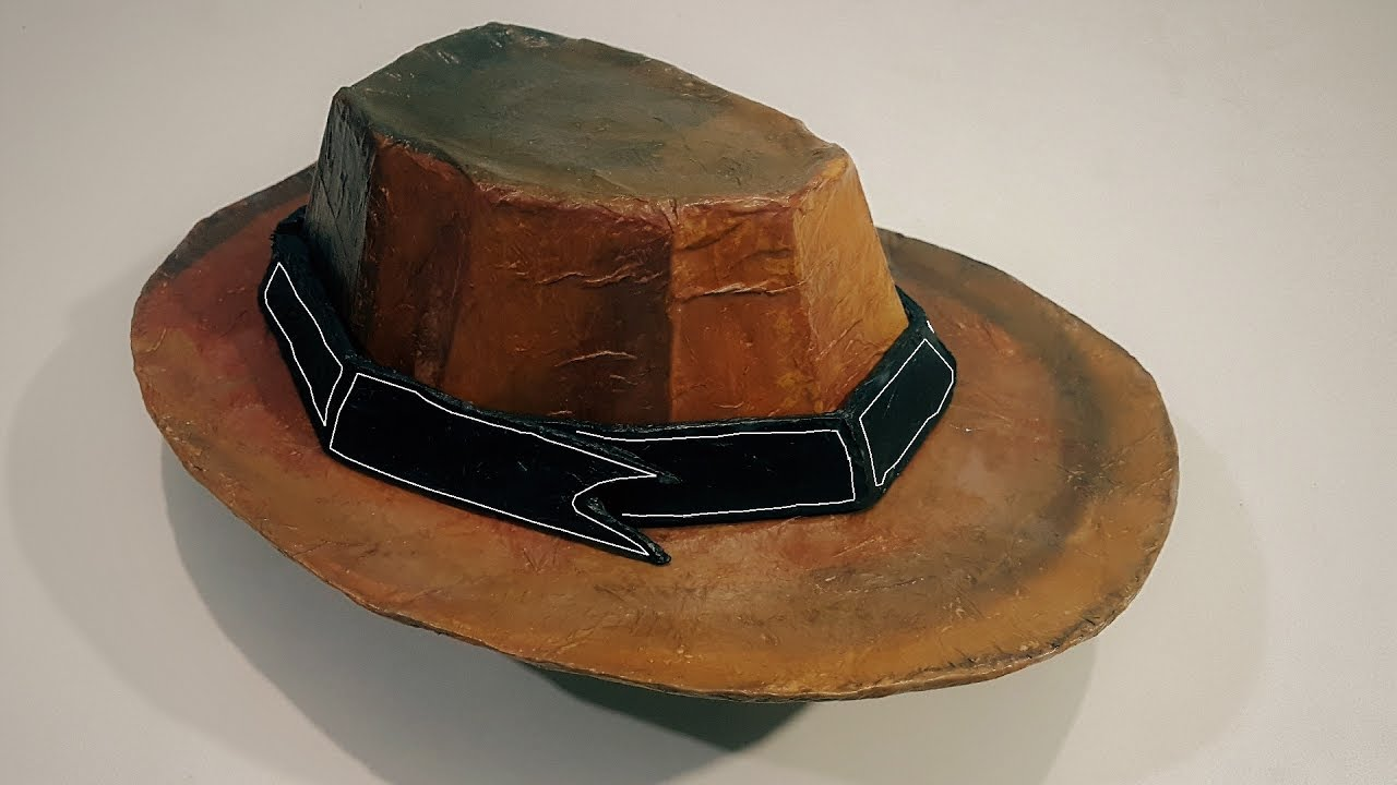 225d2aba8b8 How to make a Classic CowBoy Hat from Cardboard