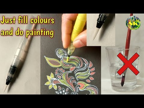 Pen Brush ||  No need to dip Brush into water and colours || just do painting