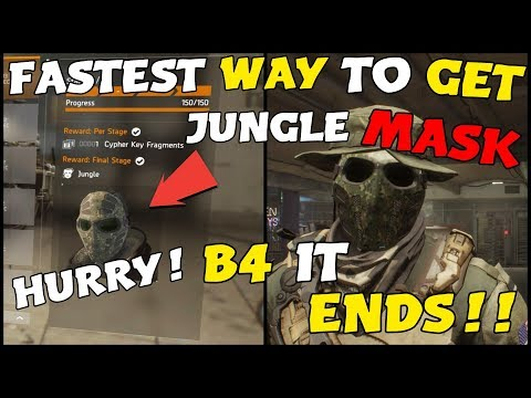 Download Youtube: The Division: FASTEST WAY TO GET THE JUNGLE MASK!