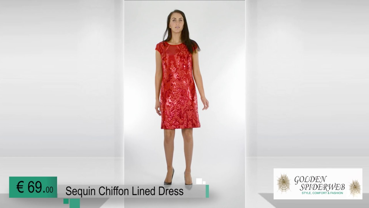new cheap hot product fast delivery Sequin Chiffon Lined Dress (red) - YouTube