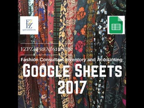 EZPZ Spreadsheets - Google Sheets - LuLaRoe Inventory and Accounting