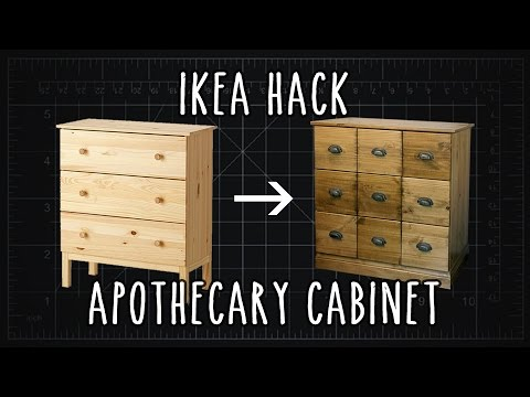 ikea hack tarva apothecary cabinet diy youtube. Black Bedroom Furniture Sets. Home Design Ideas