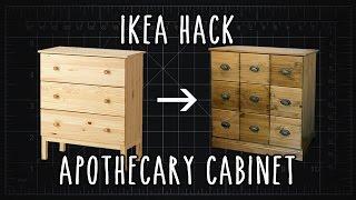 IKEA Hack! TARVA Apothecary Cabinet DIY