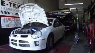 SRT-4 dyno tuning on pump gas front