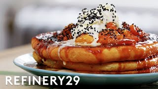 A Pro Chef Makes Banana Pancakes In A Tiny Kitchen | Good Chef, Bad Kitchen | Refinery29