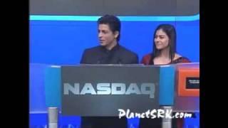 Shah Rukh Khan & Kajol @ NASDAQ  www.PlanetSRK.com