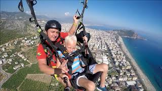Best tandem paragliding in Alanya (Turkey) - 800 meters up in the air