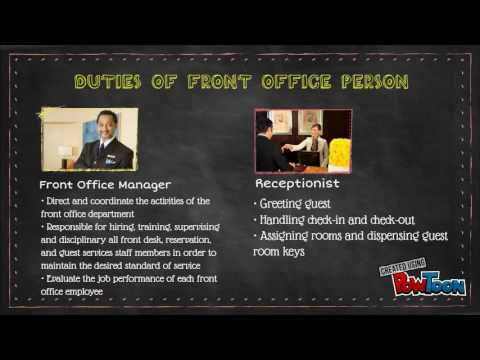 Introduction to Front Office Department
