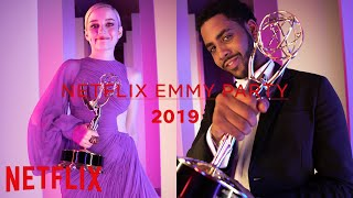 Jason Bateman, Jharrel Jerome, Julia Garner, Joey King, Tan France | Emmy Party 2019 | Netflix