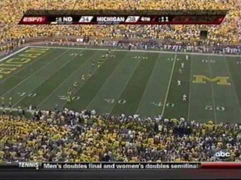 2009: Michigan-38 Notre Dame-34 (PART 3)