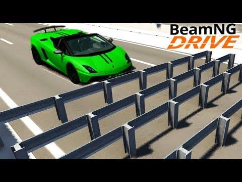 DESTRUIÇÃO no GUARDRAILS!!! - BeamNG Drive