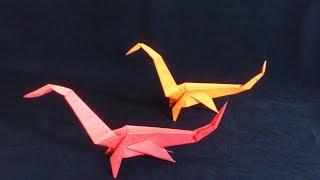 Cara Membuat Origami Dinosaurus Seismosaurus Si Leher Panjang