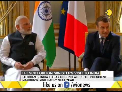 French foreign minister Jean-Yves Le Drian to visit India today