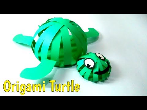 Paper Crafts Ideas: Origami Turtle, How to Make an Origami Turtle, DIY Paper Turtle
