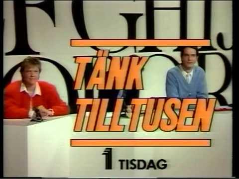 TV1-trailer Tänk till tusen + klocka 1986-08-30