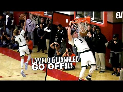 LaMelo Ball TRIPLE DOUBLE + LiAngelo Ball 52 & DUNK! Chino Hills State Playoffs Opener vs Birmingham