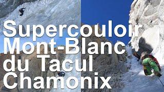 10394_ Mont-Blanc du Tacul Supercouloir Boivin Gabarrou 1975 départ direct sommet