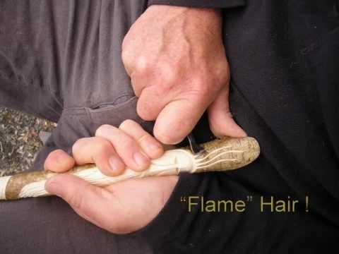 Carving a Wood Spirit Walking Stick. - YouTube