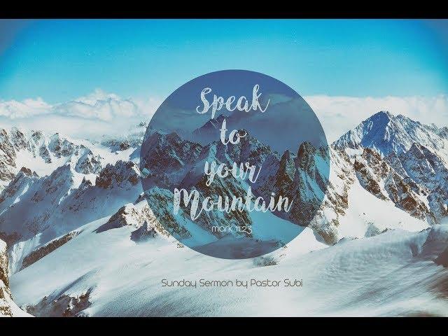SPEAK TO YOUR MOUNTAIN | Pr. Subi Samuel | 24th February 2019