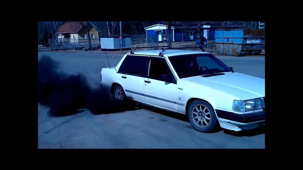 Volvo 740 D24 TIC Burnout - YouTube