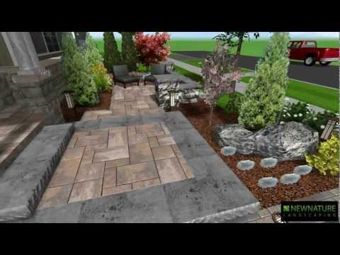 New Nature Landscaping - Front Patio Design