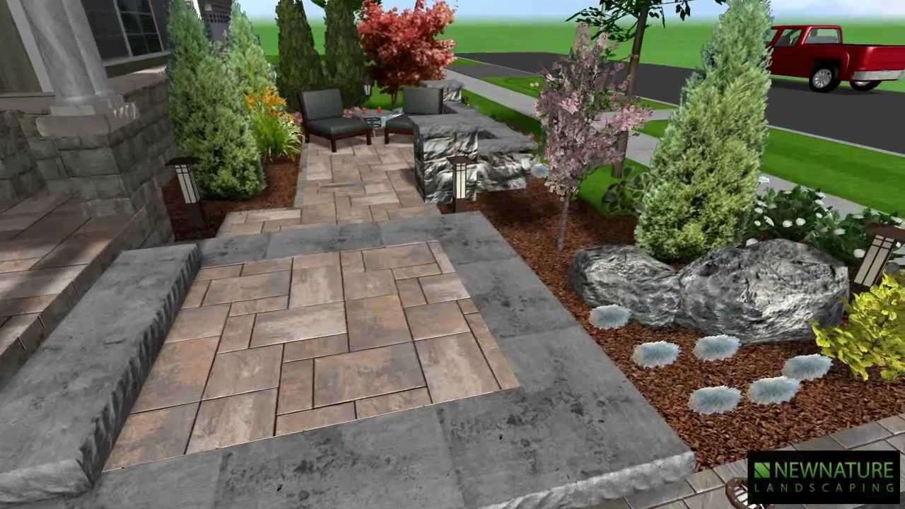 New Nature Landscaping - Front Patio Design - YouTube