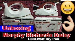 Morphy Richards Daisy 1000-Watt Dry Iron   Unboxing   मर्फी रिचर्ड्स प्रेस