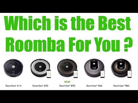 2018 Roomba Models Compared - 980 vs 960 vs 890 vs 690 vs