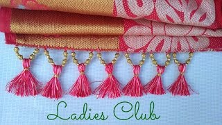 How To Make Saree Kuchu/Tassels With Beads Design - 3 I Detailed Tutorial..!!