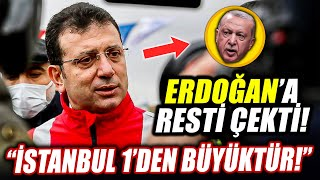Ekrem İmamoğlu Erdoğan'a Kanal İstanbul resti! \