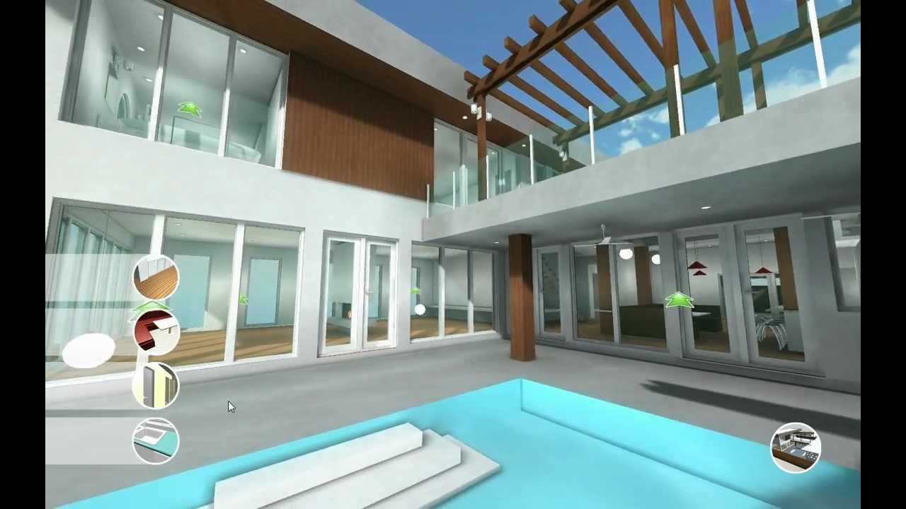 Big house architectural visualization in unity 3d youtube for Video architecture